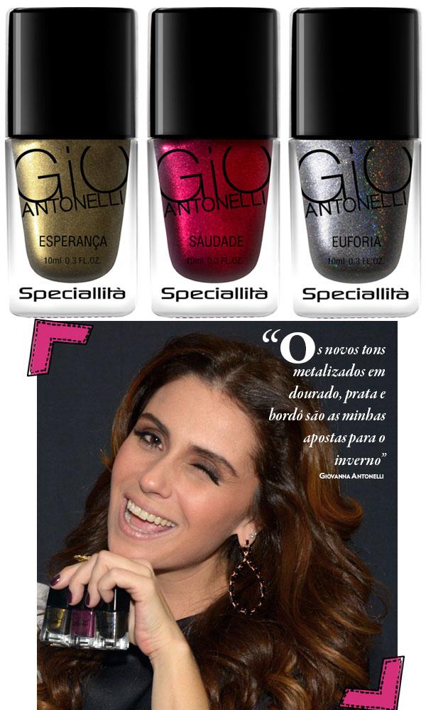 15a7ddc98 Giovanna Antonelli lança 3 novas cores em sua linha de esmaltes ...