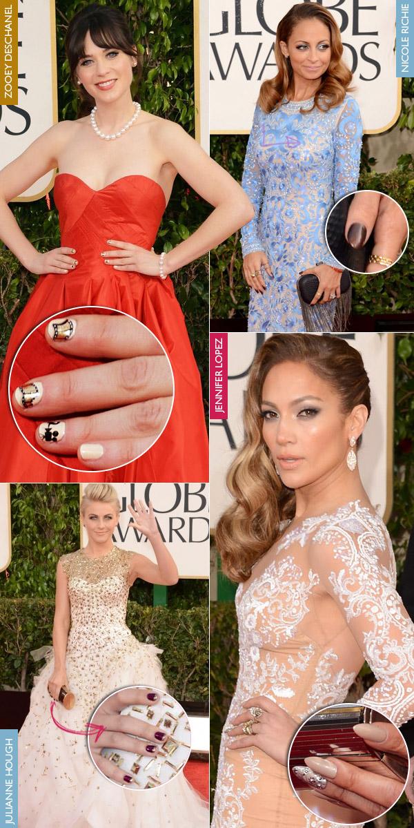 1-golden-globe-manicure-unhas