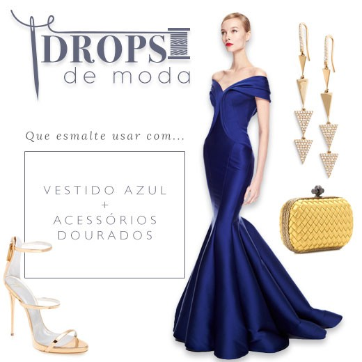 Vestido azul royal que esmalte usar