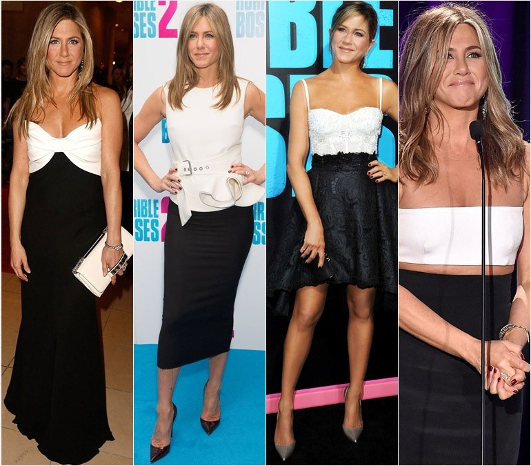 jennifer-aniston-black-white-dress