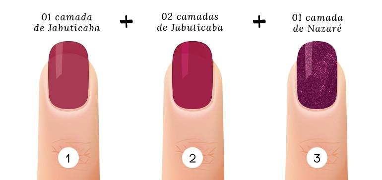 7 suco de uva rosado combinacoes esmaltes